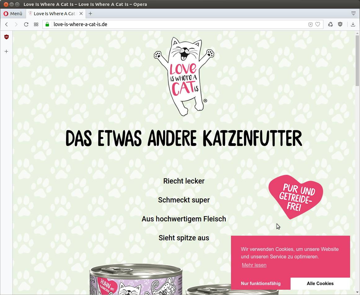 Love Is Where A Cat Is WordPress Webseite