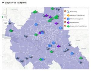 Karte mit Stadtteilen
